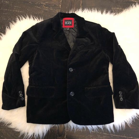 d18463d2e29c3 Children s Place Other - Boys velvet blazer jacket. Boys black blazer